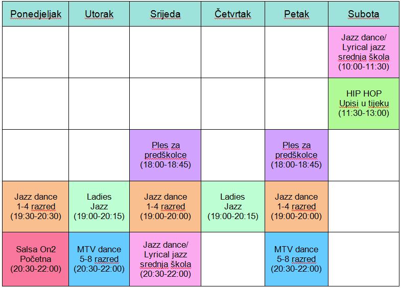 raspored siječanj
